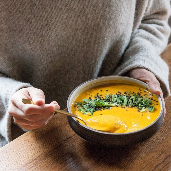 Thai Carrot, Coconut and Cauliflower Soup | A Sweet Spoonful