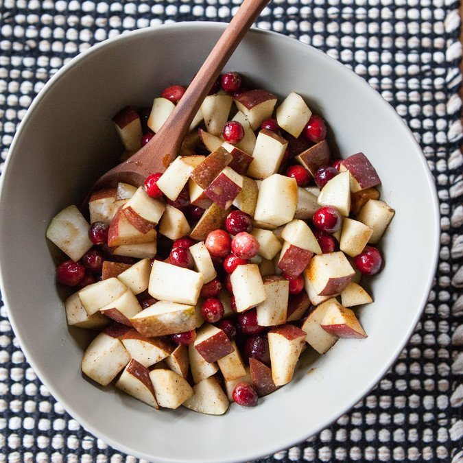 Spiced Pear, Cranberry and Marzipan Crumble   A Sweet Spoonful