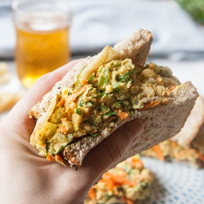Smashed Chickpea Salad Sandwiches