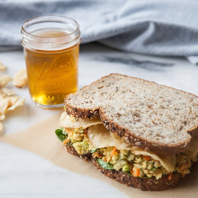 Smashed Chickpea Salad Sandwiches | A Sweet Spoonful
