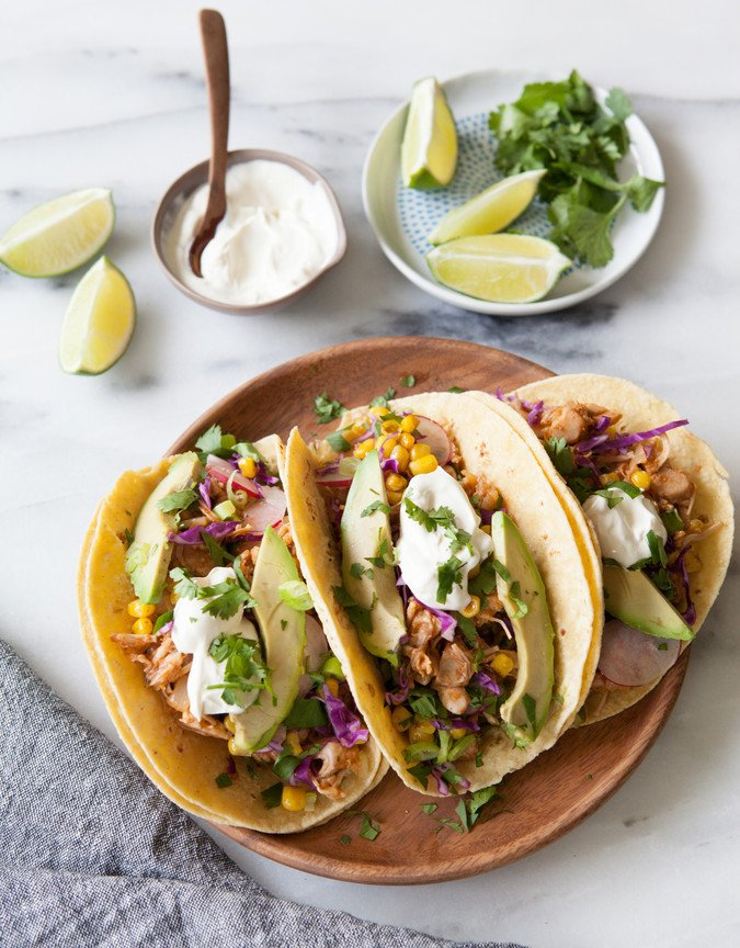BBQ Pulled Jackfruit Tacos | A Sweet Spoonful
