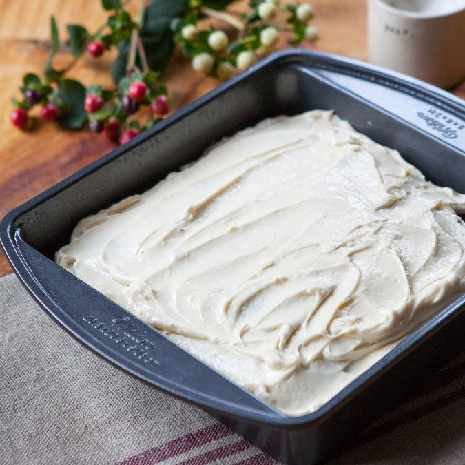 Whole Grain Gingerbread with Maple Cream Cheese Frosting | A Sweet Spoonful