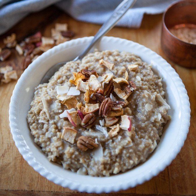 Instant Pot Coconut Steel Cut Oatmeal | A Sweet Spoonful