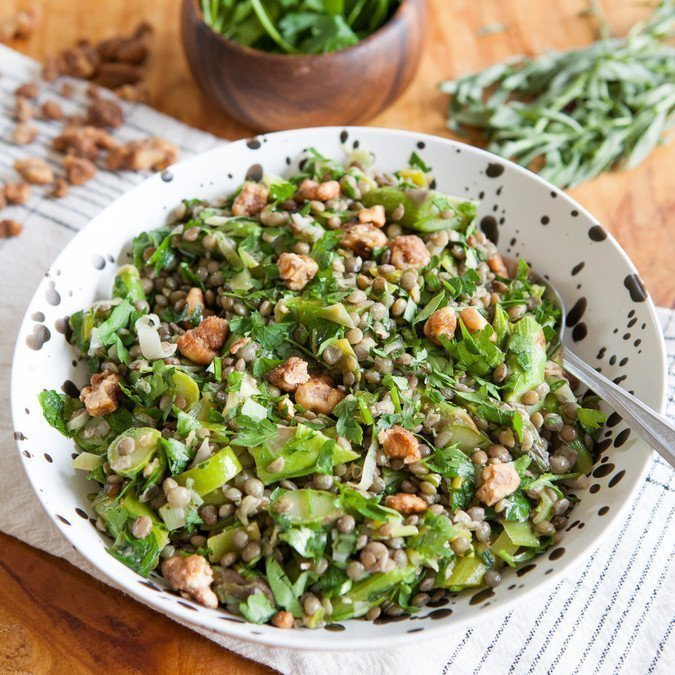 Easy Spring Lentil Salad | A Sweet Spoonful