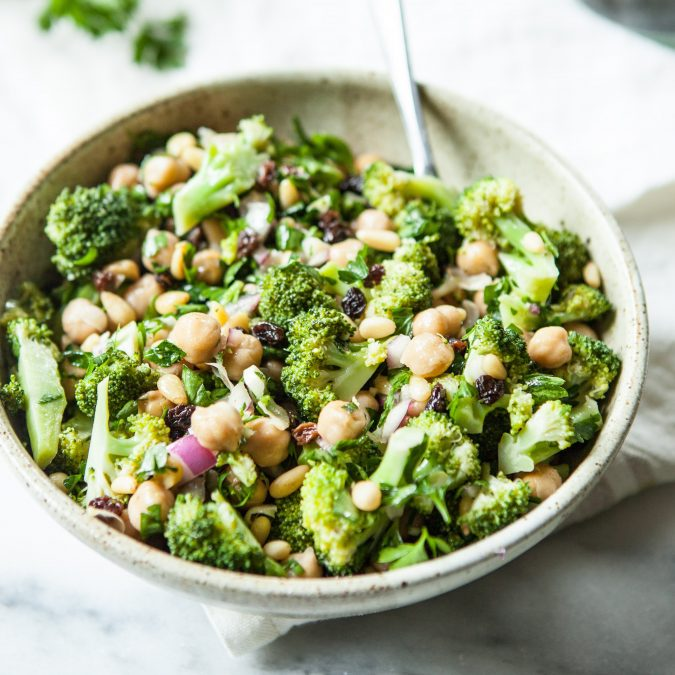 Crunchy Broccoli And Chickpea Salad A Sweet Spoonful
