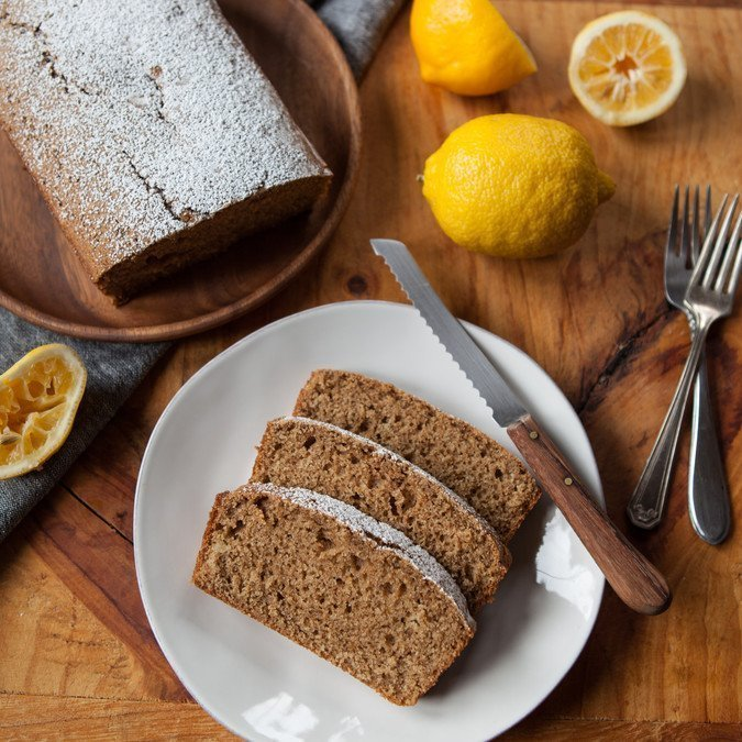 Lemon Olive Oil Snacking Cake | A Sweet Spoonful