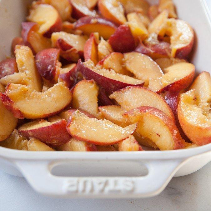 Peach Pecan Crisp | A Sweet Spoonful