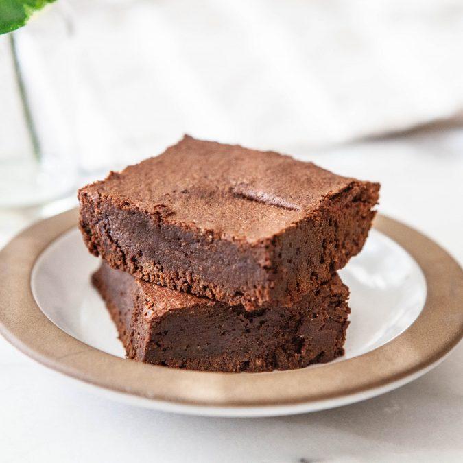 Deep, Dark Chocolate Brownies