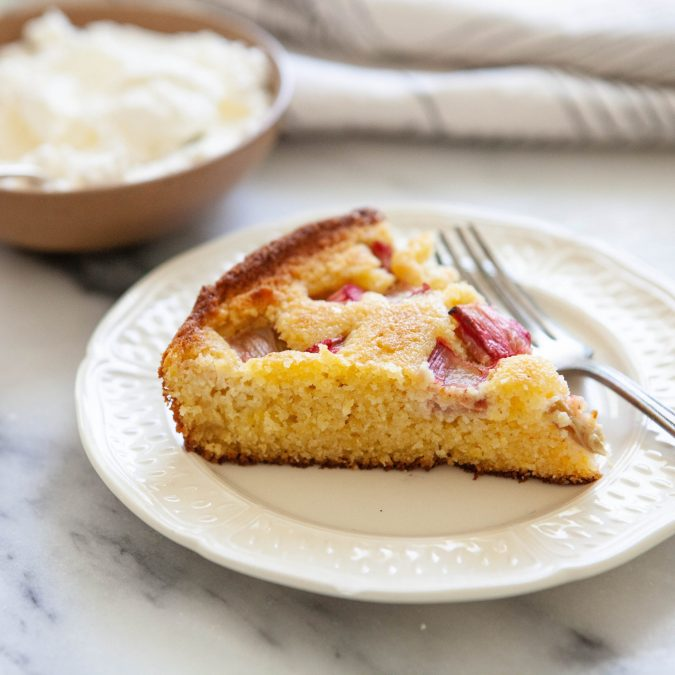 Rhubarb Skillet Cake
