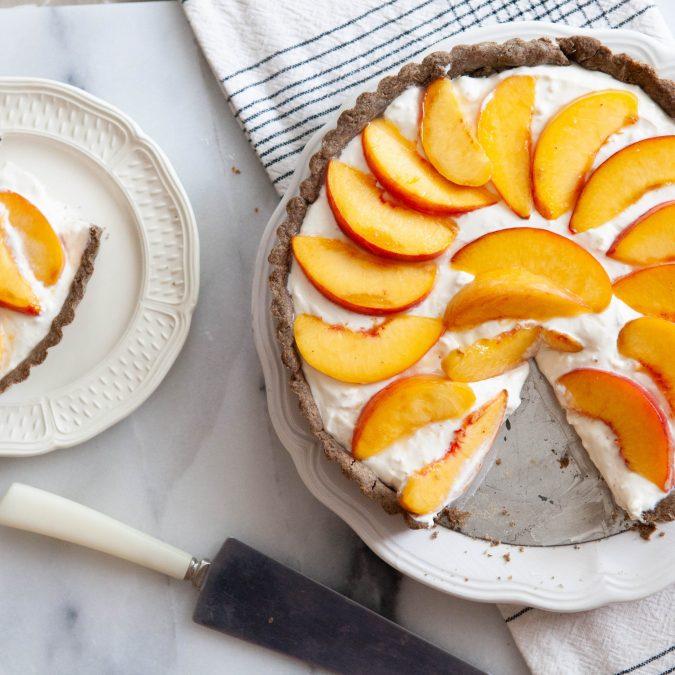Whole Grain Peaches and Cream Tart
